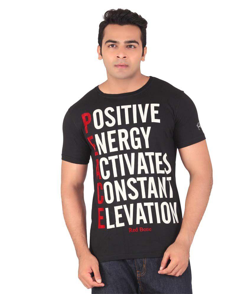 Radbone Black Cotton Blend T-Shirt