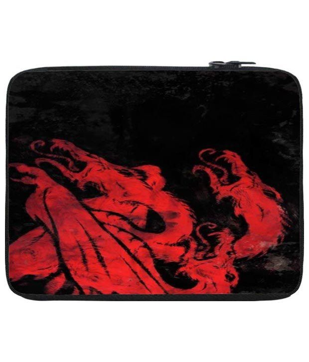 Snoog Red & Black Game Of Thrones Laptop Sleeve 12 to 12.6 Inch