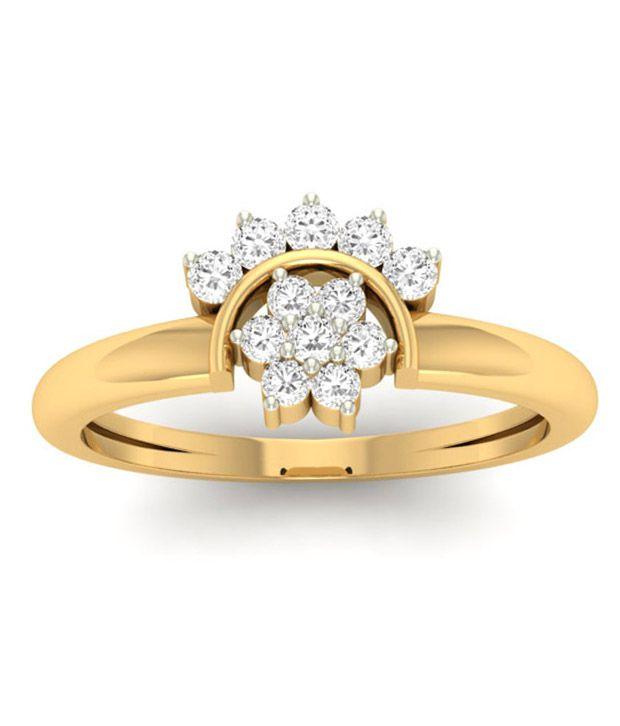 jewels5 14kt Gold Diamond Ring