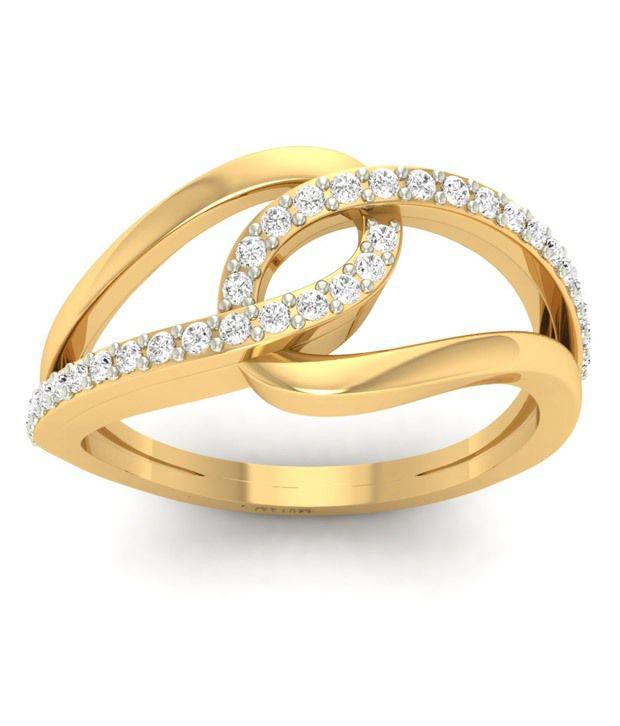 jewels5 18kt Gold Diamond Ring