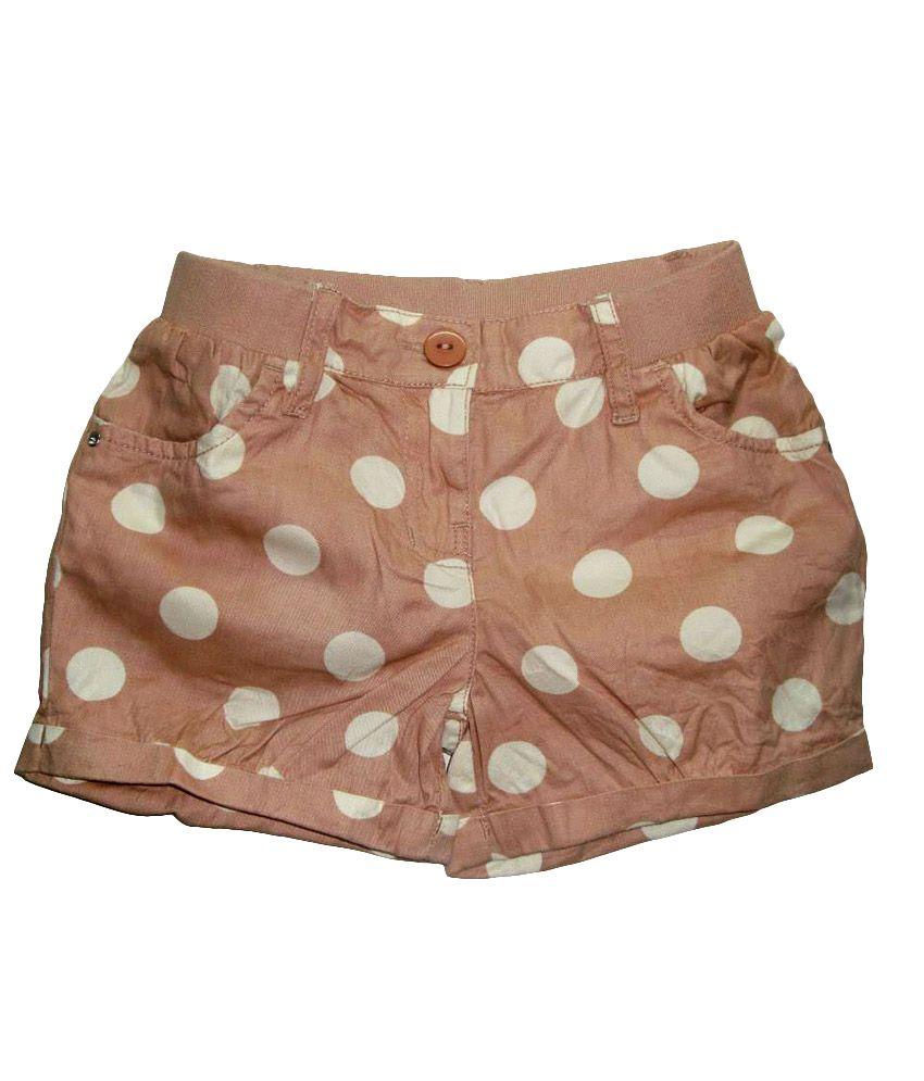 C.u.b Brown Cotton Printed Shorts