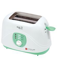 Cello Quick Pop 100 - 800 Watts Pop Up Toaster - White