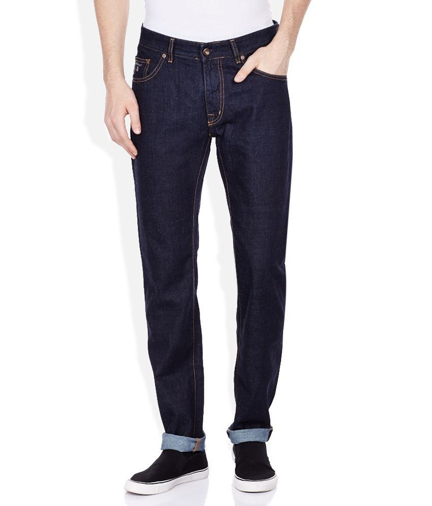 GANT Navy Raw Denim Slim Fit Jeans