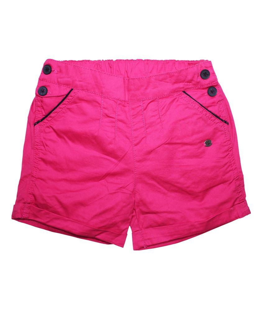 Fs Mini Klub Pink Cotton Shorts