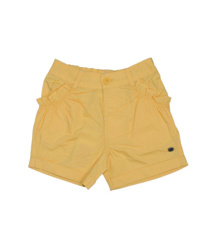 Fs Mini Klub Yellow Cotton Shorts