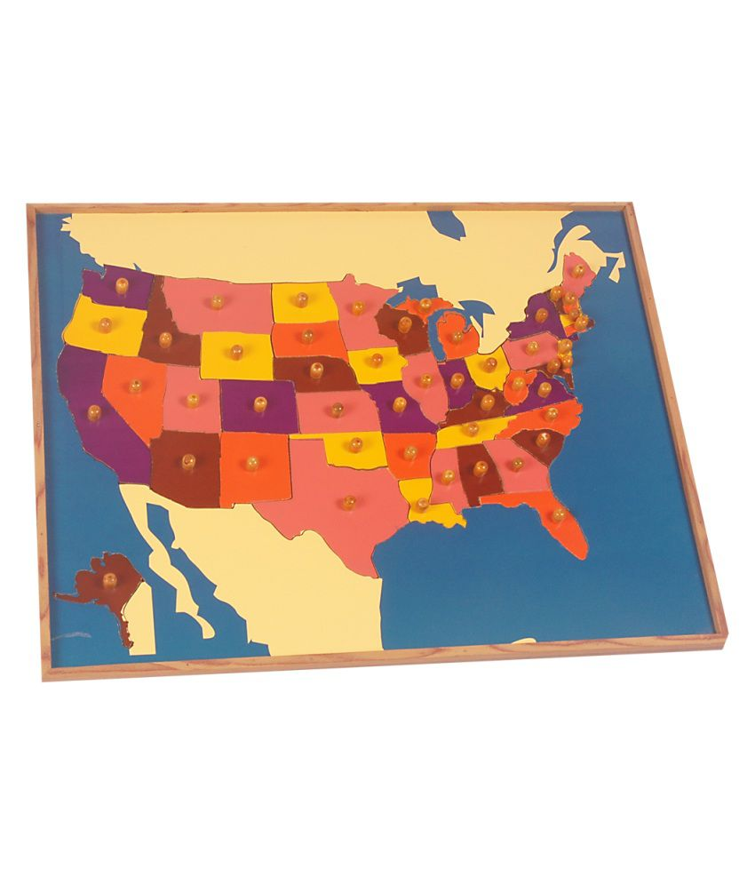 Us map license plate puzzle