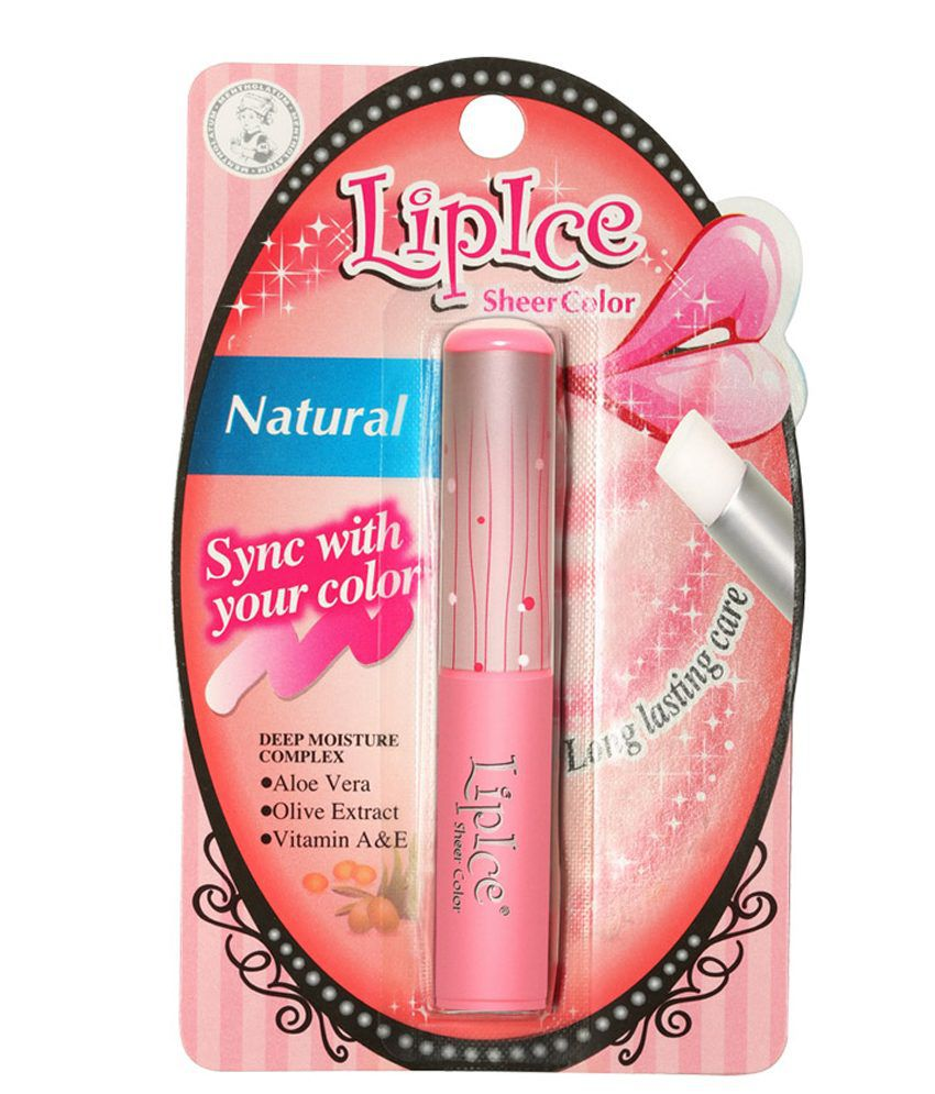 Lipice Sheer Color Natural 2gm Lip Ice