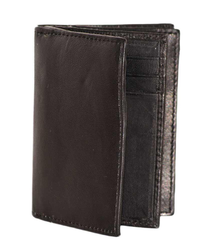 Modish Black Formal Leather Card Holder