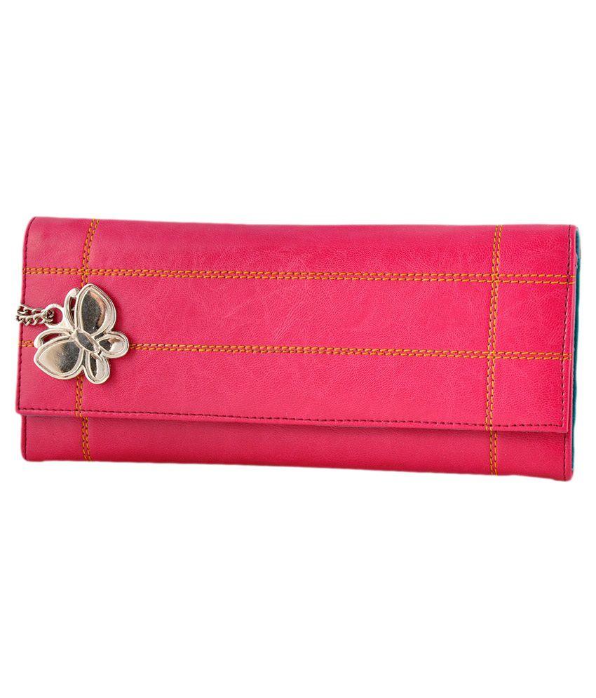 Butterflies Pink Casual Wallet