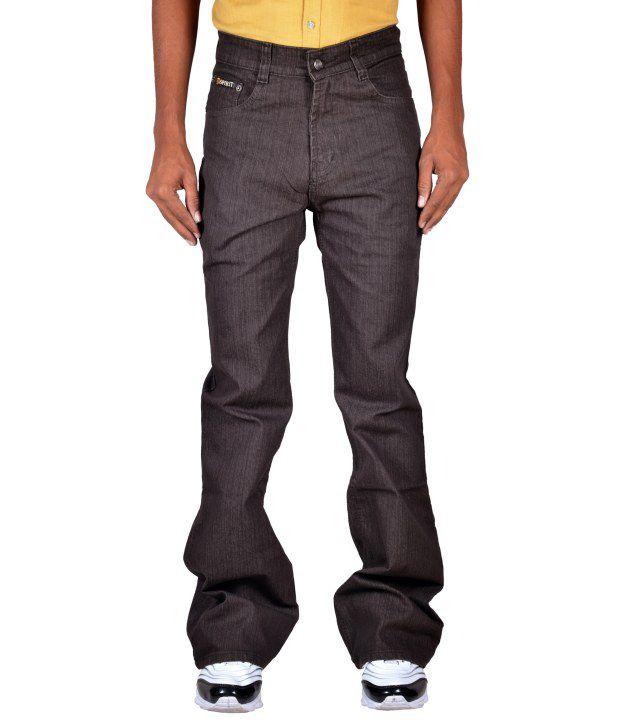Spirit Brown Cotton Blend Bootcut Denim Jeans