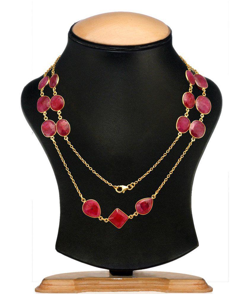 Aarohee Pink Ruby Stones Mala