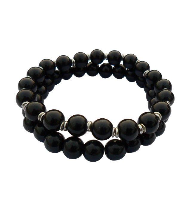 Combo of 2 Black Alloy Bracelets