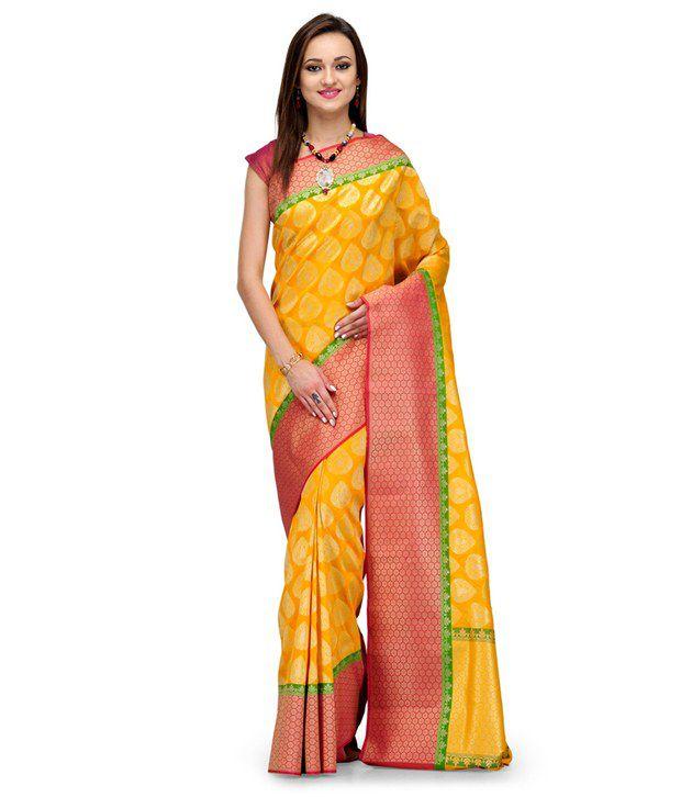 Fabroop Gold Silk Saree