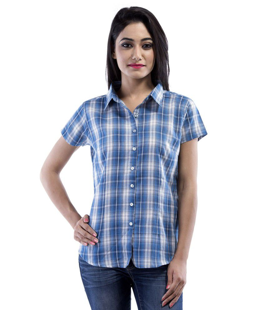 Buy Amadore Blue Cotton Shirts Online At Best Prices In