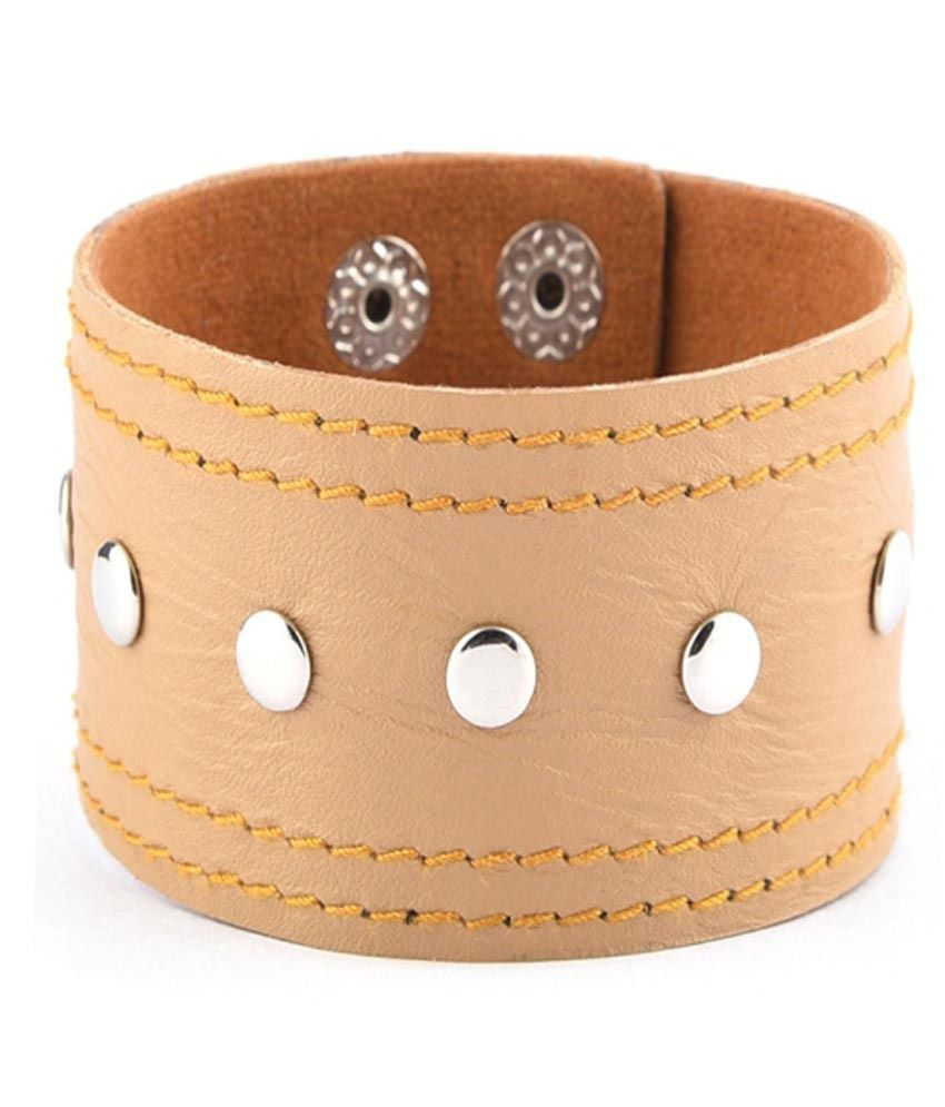 Trinketbag Nude Punk Funk Leather Bracelet