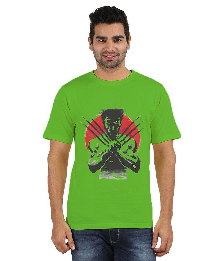 Doozy Shopping Green Cotton T-Shirt