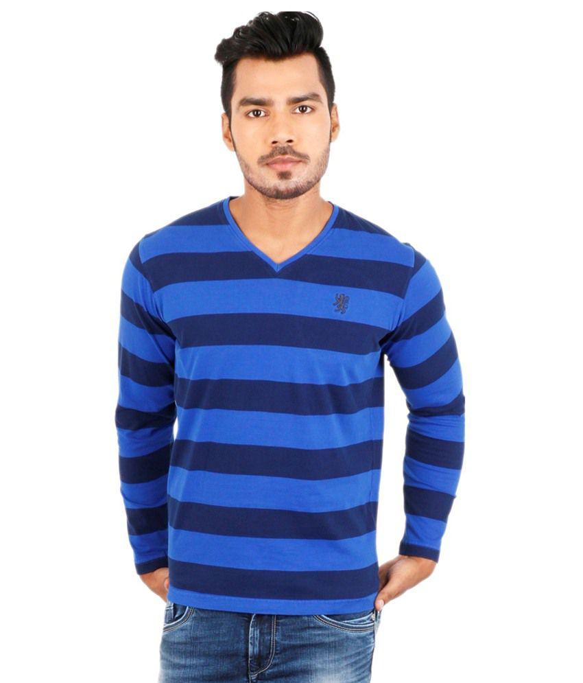 Killer Blue Cotton T Shirt