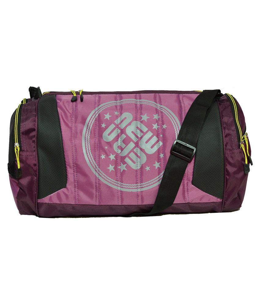 Newera Purple Polyester gear Gym Bag