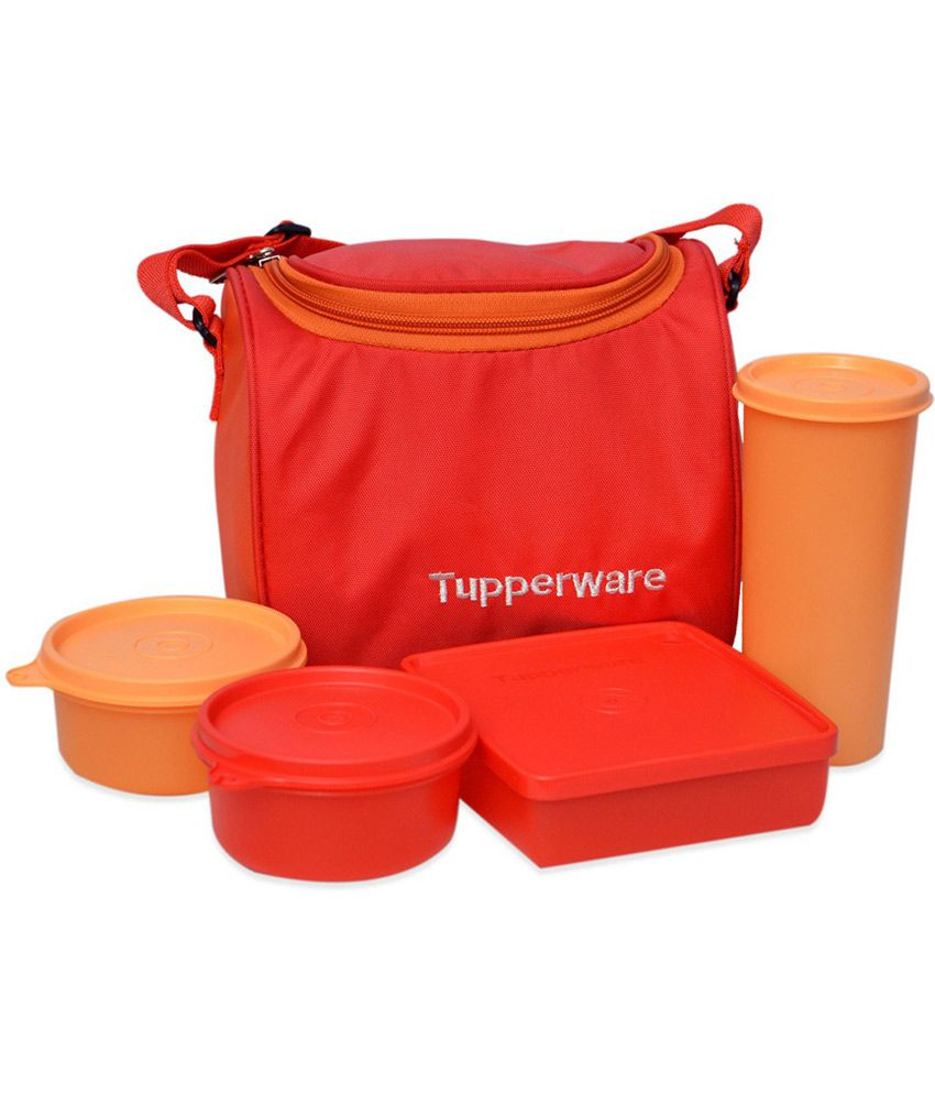 tupperware virgin plastic lunch boxes with lunch bag set. Black Bedroom Furniture Sets. Home Design Ideas