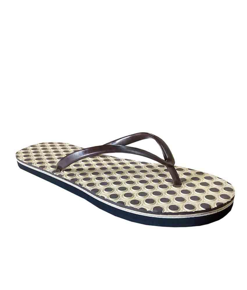 Unispeed Beige Accupressure Foot Relief Slippers