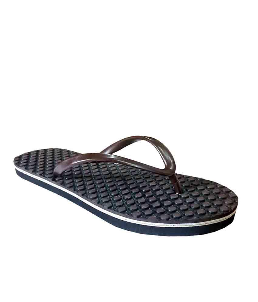 Unispeed Brown Accupressure Foot Relief Slippers