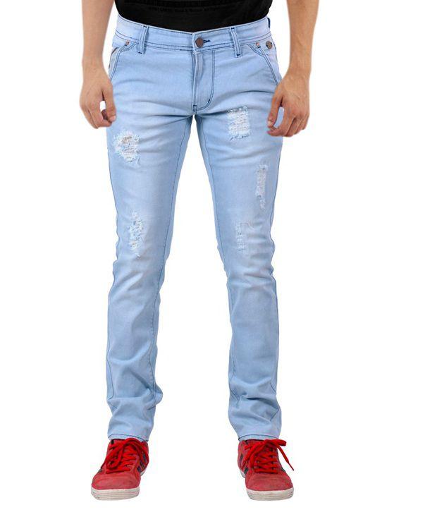 W.Stallion Blue Slim Fit Jeans