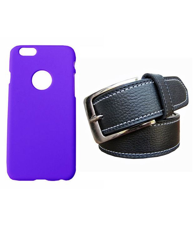 Winsome Deal Black Belt with Back Cover Case for Apple Iphone 6