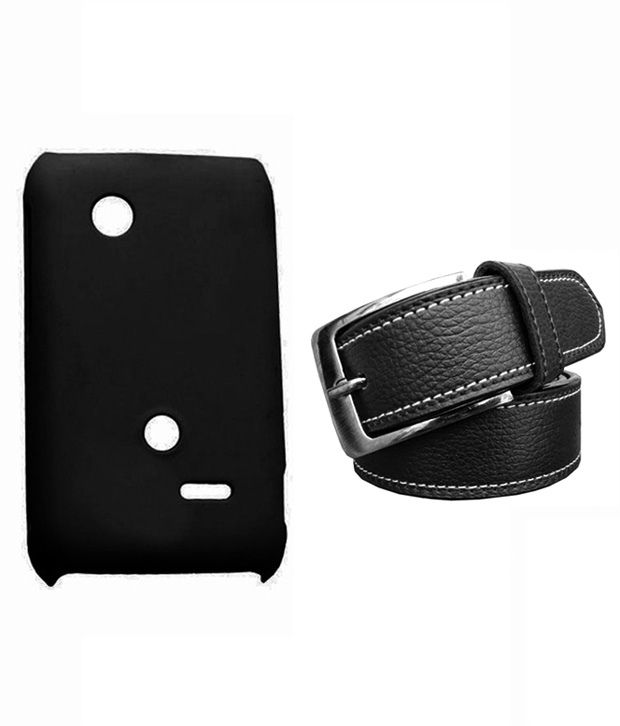 Winsome Deal Black Belt with Back Cover Case for Sony Xperia Tipo