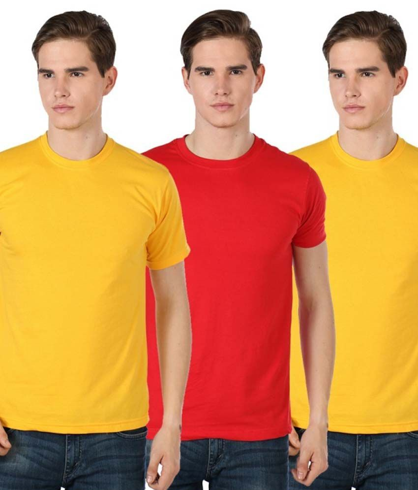 Billy Buddha Multicolour Cotton T Shirt Pack Of 3
