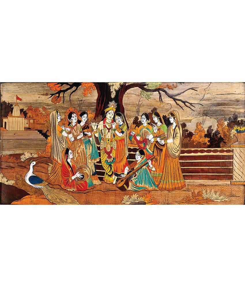 Retcomm Art Digital Art Krishna Raas Leela Brij Mathura Painting Religious Painting