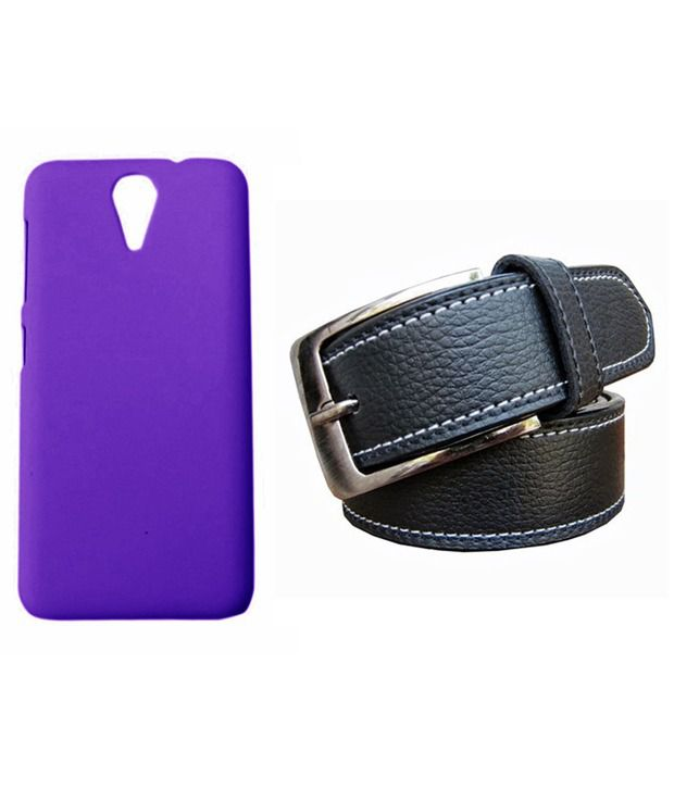 Winsome Deal Black Belt with Back Cover Case for HTC Desire 620