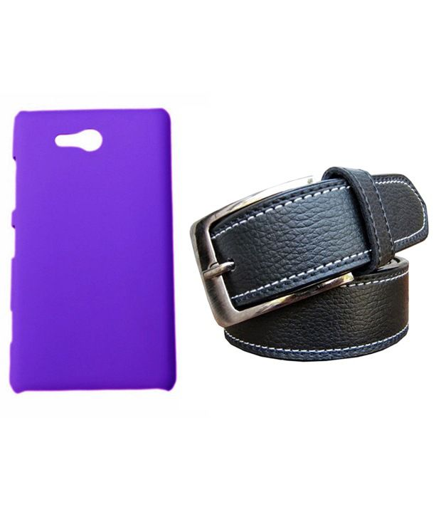 Winsome Deal Black Belt with Back Cover Case for Nokia Lumia 820