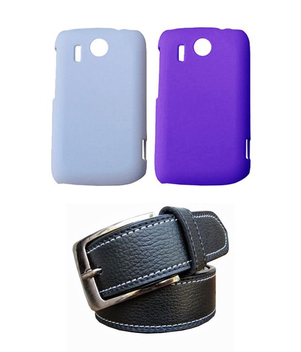 Winsome Deal Black Belt with 2 Back Cover Cases for HTC Explorer A310