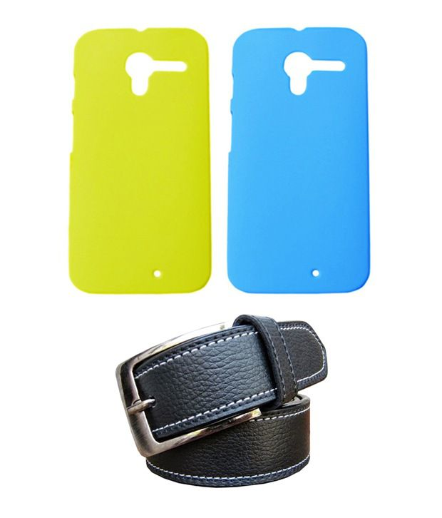 Winsome Deal Black Belt with 2 Back Cover Cases for Motorola Moto X