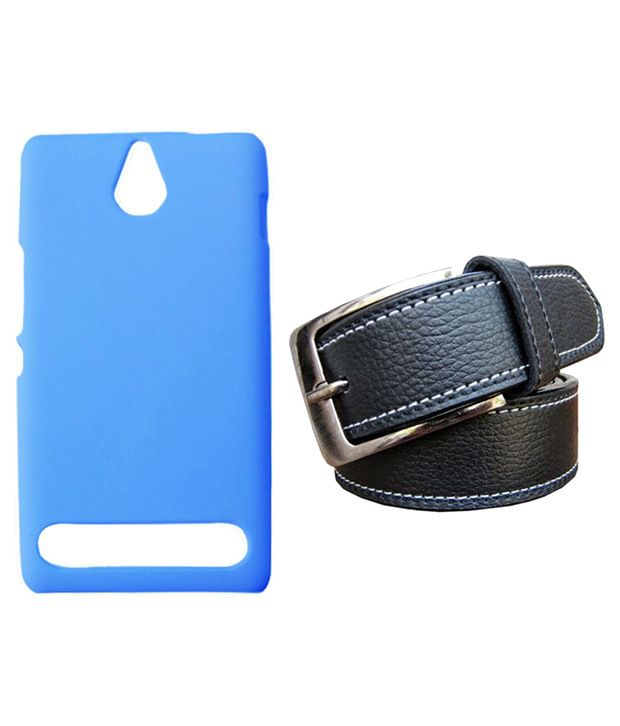Winsome Deal Black Belt with Back Cover Case for Sony Xperia E1