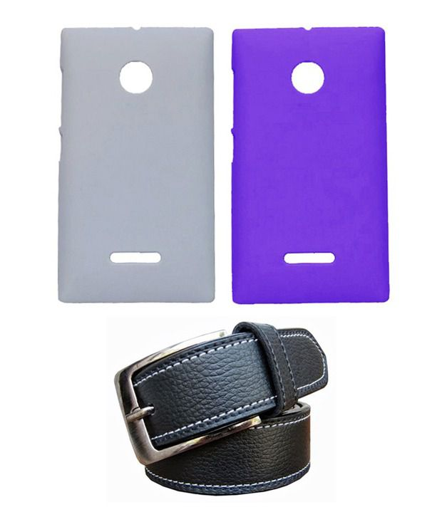 Winsome Deal Black Belt with 2 Back Cover Cases for Nokia Lumia 532