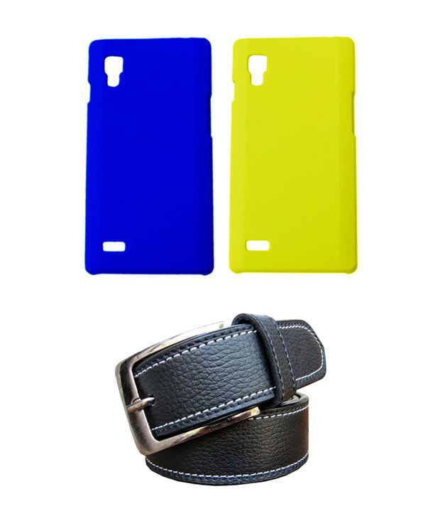 Winsome Deal Black Belt with 2 Back Cover Cases for LG L9 P760