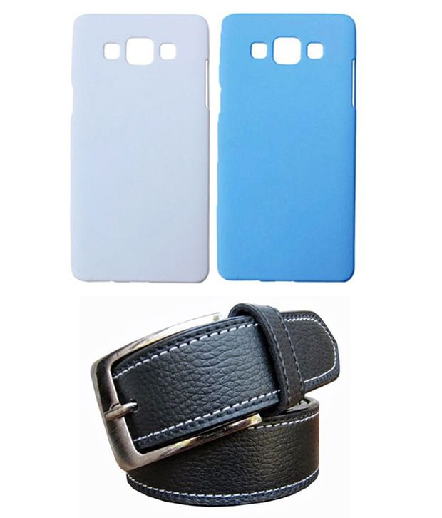 Winsome Deal Black Belt with 2 Back Cover Cases for Samsung Galaxy A5 A500