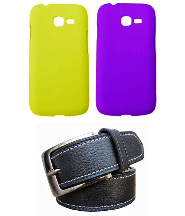 Winsome Deal Black Belt with 2 Back Cover Cases for Samsung Galaxy Star Pro S7262