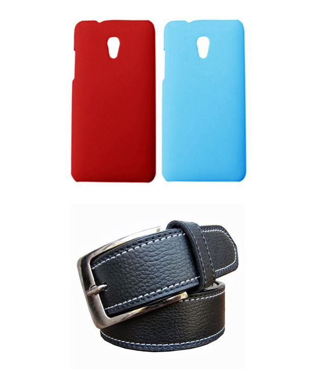 Winsome Deal Black Belt with 2 Back Cover Cases for HTC Desire 700