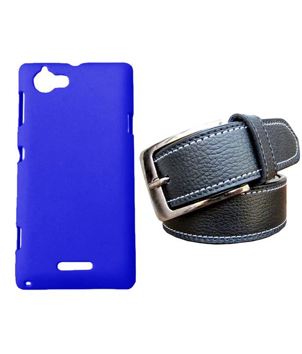 Winsome Deal Black Belt with Back Cover Case for Sony Xperia L S36H