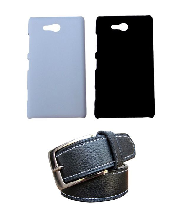 Winsome Deal Black Belt with 2 Back Cover Cases for Nokia Lumia 820