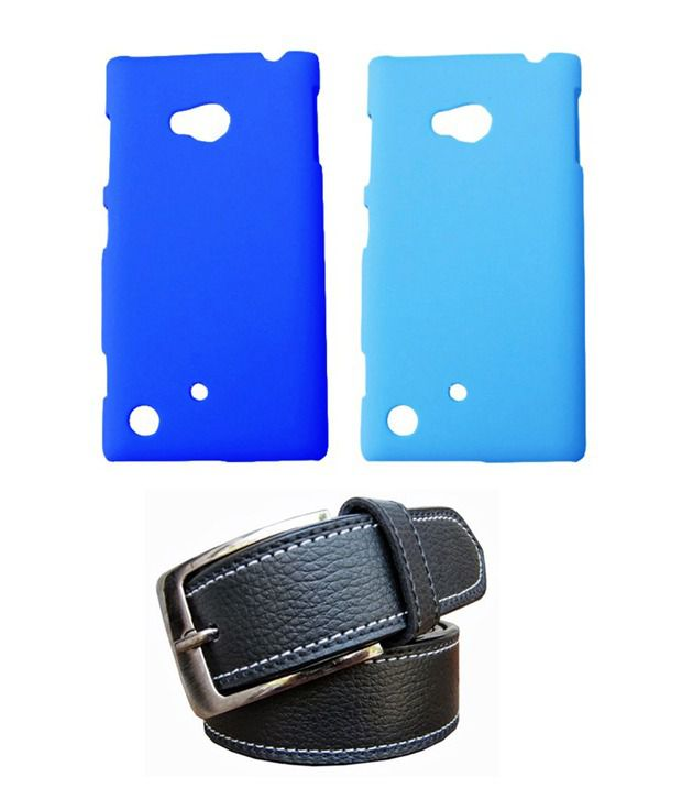 Winsome Deal Black Belt with 2 Back Cover Cases for Nokia Lumia720
