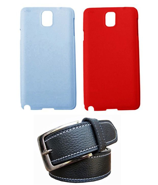 Winsome Deal Black Belt with 2 Back Cover Cases for Samsung Galaxy Note3 N9000/N9005