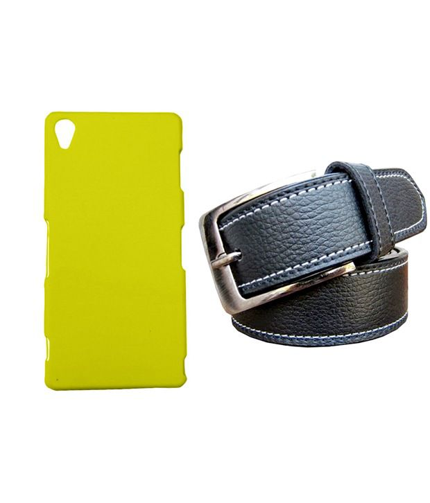 Winsome Deal Black Belt with Back Cover Case for Sony Xperia Ion LT28I