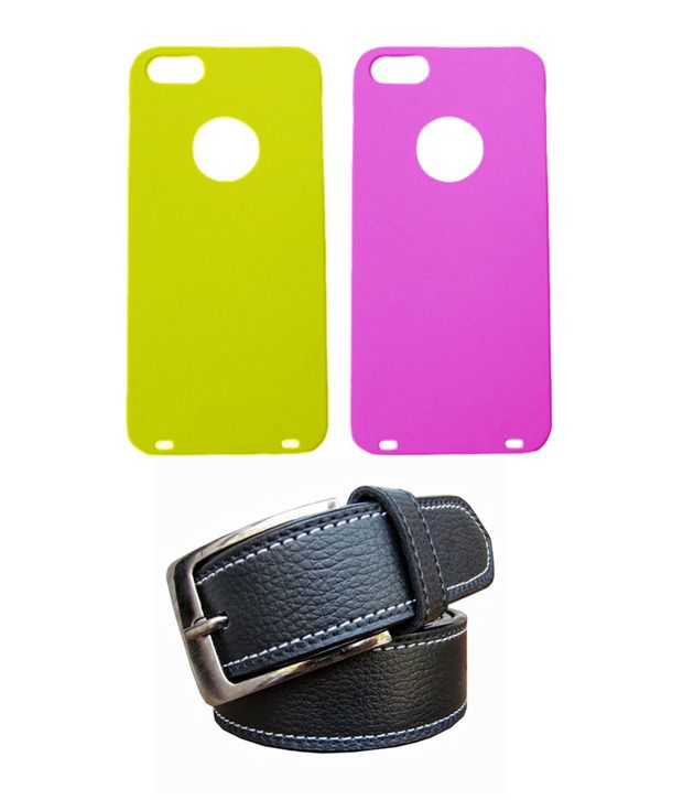 Winsome Deal Black Belt with 2 Back Cover Cases for Apple Iphone 5S
