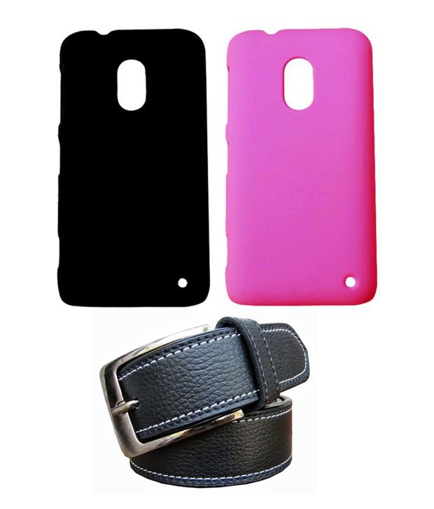 Winsome Deal Black Belt with 2 Back Cover Cases for Nokia Lumia 620