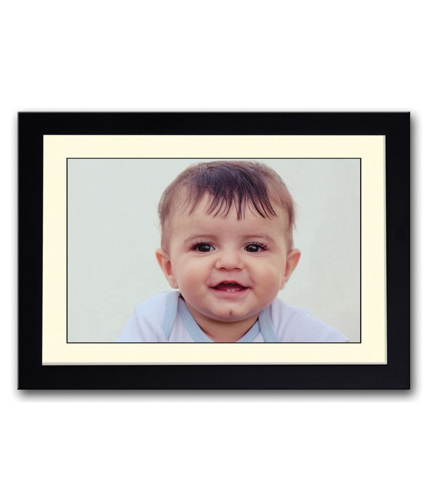 Artifa Matte Baby Looking Painting With Wood Frame