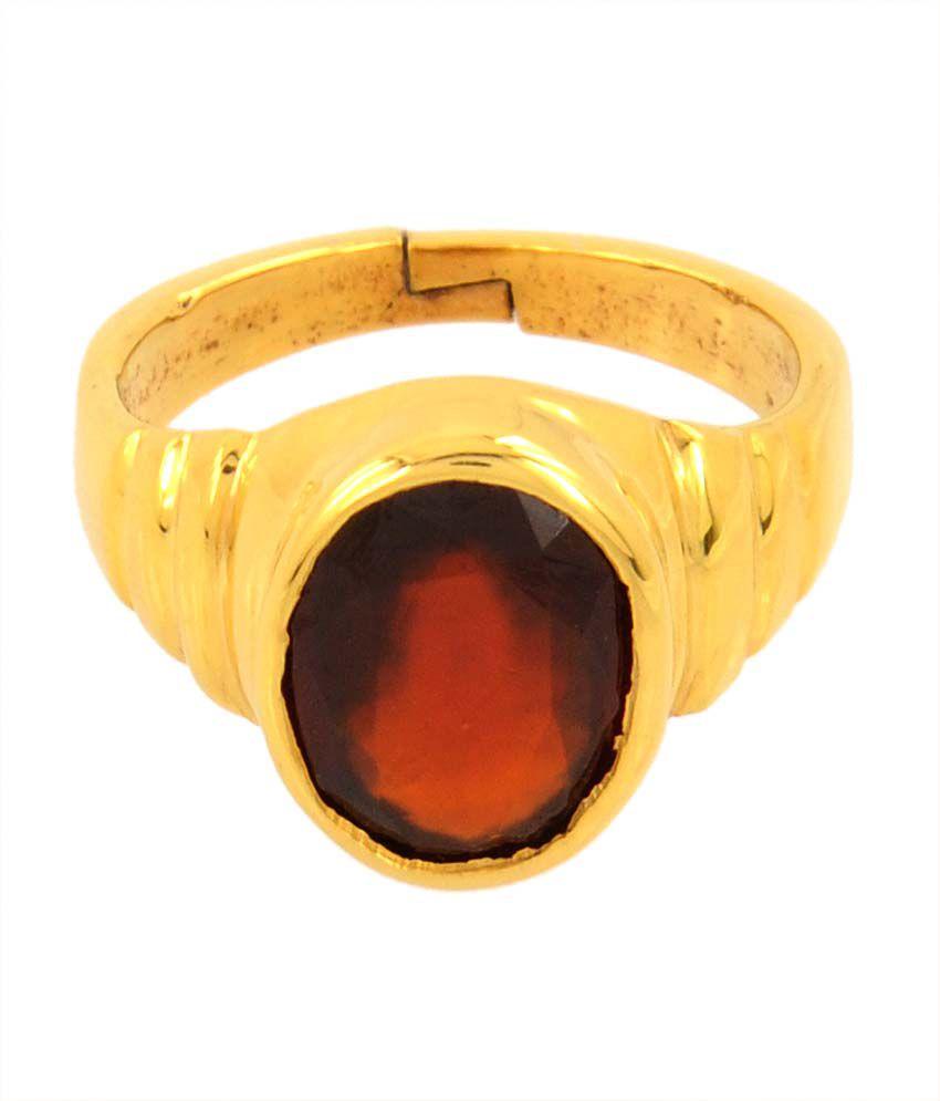 Bello 4.25 Ratti Hessonite Garnet Gomed Ring in Panchdhatu