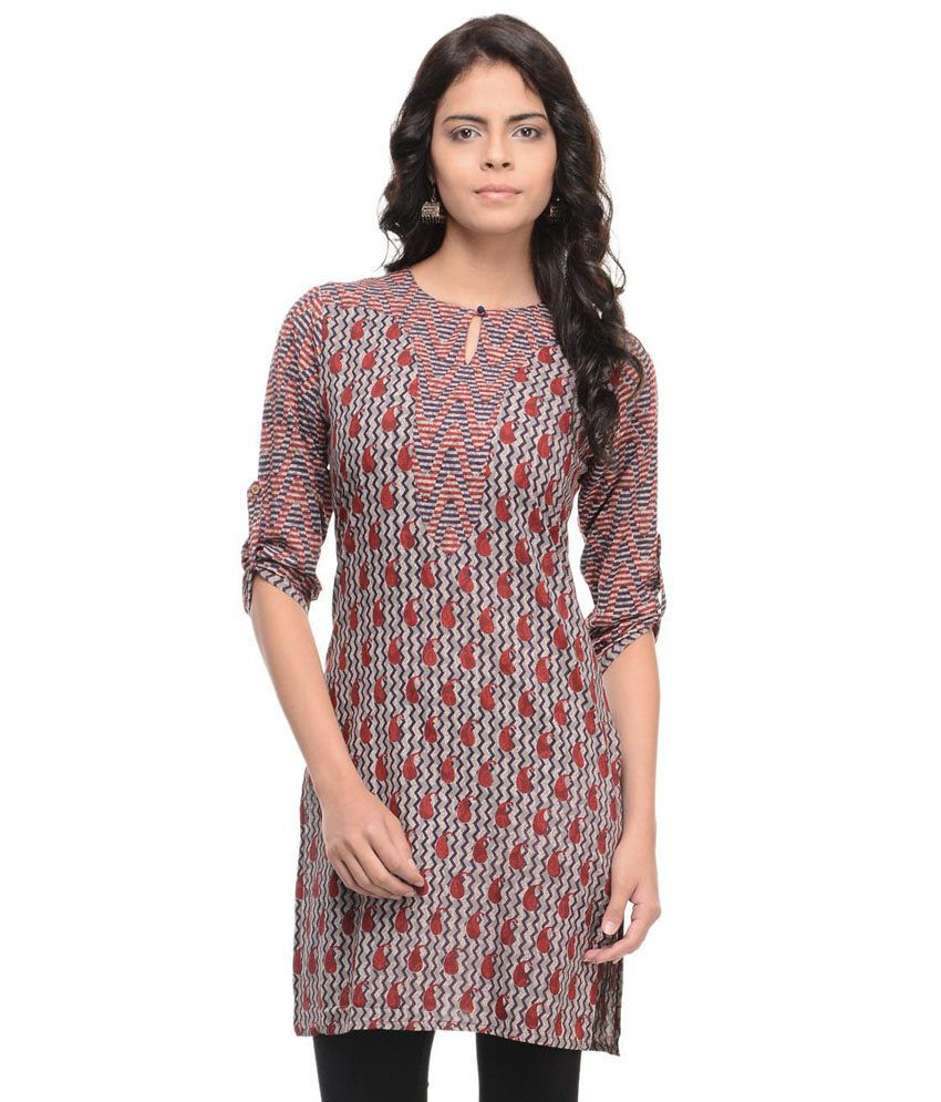 Shuddhi Brown Cotton Kurti